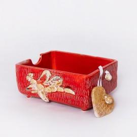 Dėžutė servetėlėms raudona