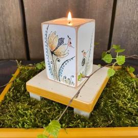 GĖLĖS NR.1. Rinkinys: žvakidė su padėkliuku.