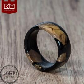 Alyvmedžio šaknimi puoštas žiedas