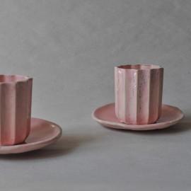 Rožinis puodelių rinkinukas