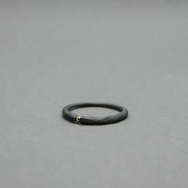 Žiedas_Garstyčios grūdelis II_Juodintas sidabras_Auksas