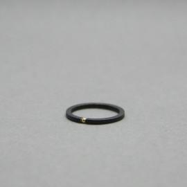 Žiedas_Garstyčios grūdelis I_Juodintas sidabras_Auksas