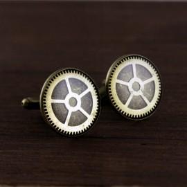 Steampunk stiliaus sąsagos su laikrodžių detalėmis