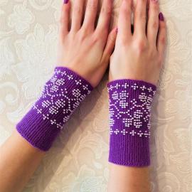 Riešinės violetinės spalvos 13X7cm