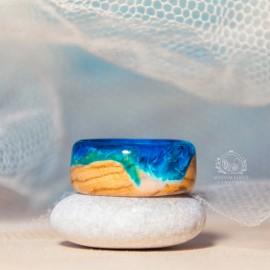 """Alyvmedžio žiedas """"Jūros krantas"""" šviesiai mėlynas"""