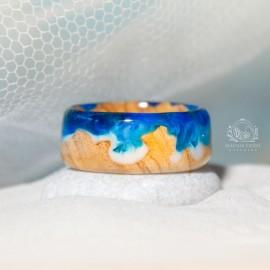 """Alyvmedžio žiedas """"Jūros krantas"""" tamsiai mėlynas"""