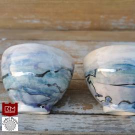 Keramikos puodeliai (piala-dubenėlis) (2 vnt.)