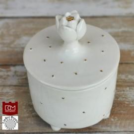 """Keramikos dėžutė """"Gėlės žiedas"""""""